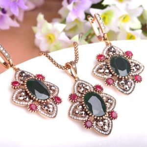 Jewelry Set Necklace Stud Earrings Women