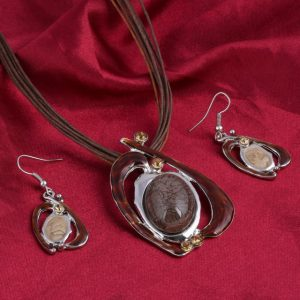Pendant Enamel Turkish Jewelry Set for Women