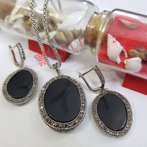 Necklace and Earrings Jewelry Set for Women Girls