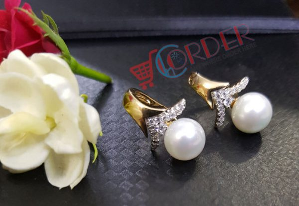Pearls Stud Earrings Fashion Jewelry Brincos Pearls Crystal Earing