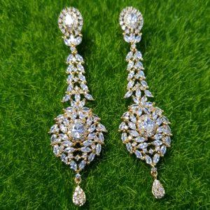 Gold-Color Long Earrings Stud Earrings For Women