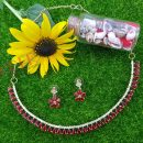 Jewelry Sets Fashion Rhinestone Necklace Earrings for Women