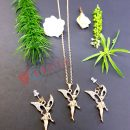 Fashionable Elf Water Drill Earring Necklace Set Jewelry