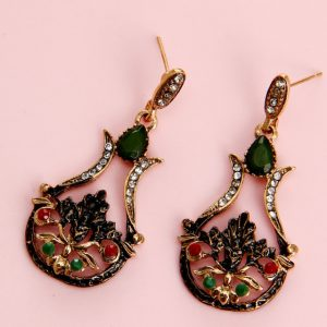 Turkey Jewelry Sets For Women Necklace Earrings Set – Red