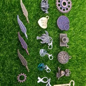 17 Pcs Vintage Metal Mixed Gears Charms For Jewelry Making