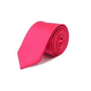 Tie for Men Slim Tie Solid color Necktie Polyester Narrow