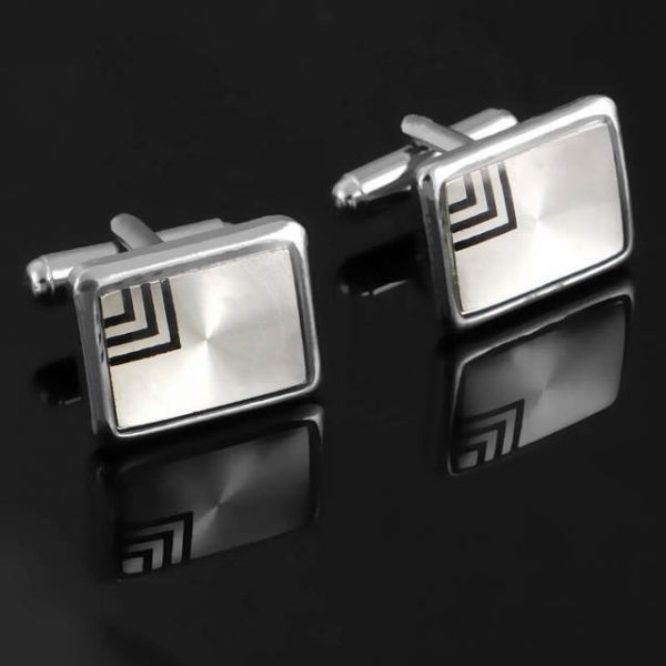 French Shirt Laser Engraving Men Jewelry Unique Cuff Links