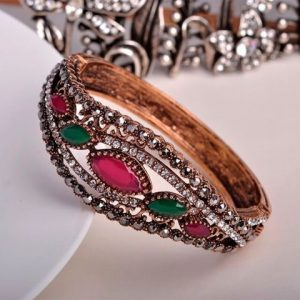 Bangles Full Crystals Red Resin Bracelets