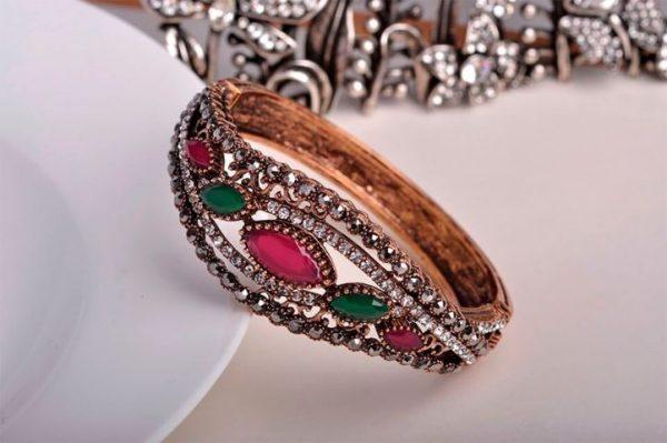 Bangles Full Crystals Red Resin Bracelets