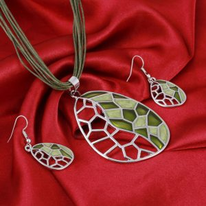 Jewelry Sets Handmade Gem Statement Silver Plated