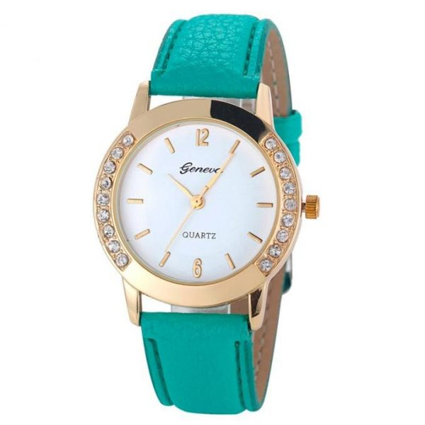 Geneva Women Watch Rhinstone Inlaid Bracelet