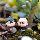 Micro 2Pcs/set Grandparents Dolls Home