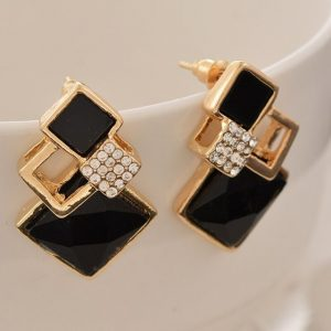 Crystal Stud Earrings For Women Ladies Fashion