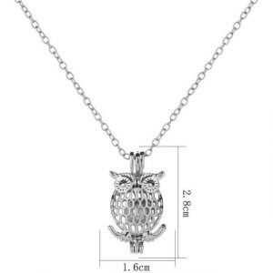 Owl Necklace Glow in the Dark Jewelry