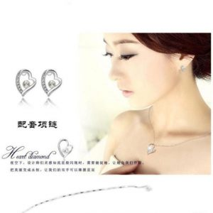 "Austria Crystal Jewelry Korean Earring ""Forever Love"""