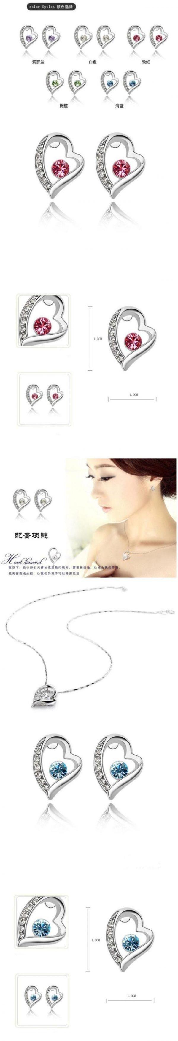 "Austria Crystal Jewelry Korean Earring ""Forever Love"""