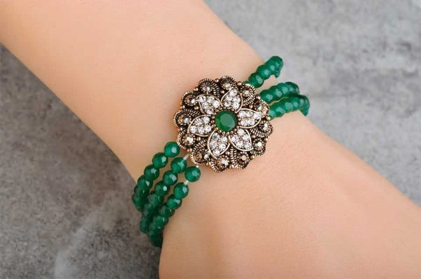 Beads Tassel Flower Bracelet Bangle