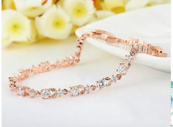 Rose Gold Color Chain Bracelet