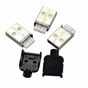 4 PCS USB Connector Male Type A 4 Pin Plug Socket