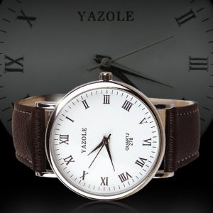 YAZOLE Luxury Brown Strap watch