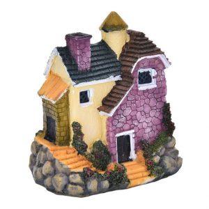 Cute Mini Resin House Miniature House Fairy Garden