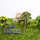 5Pcs/Set Park Benches Miniature