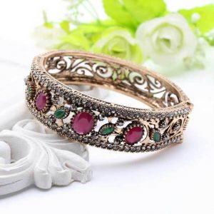 Turkish Bangles Flower Cuff Resin Bracelets Arab