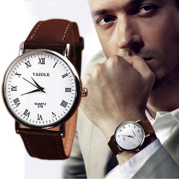 YAZOLE Luxury Brown Strap watch