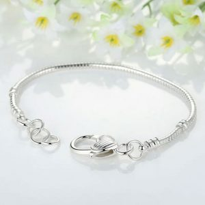 Silver Color LOVE Snake Chain Bracelet