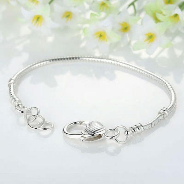 Silver Color LOVE Snake Chain Bracelet