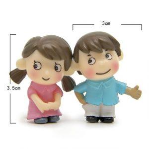 Miniature Girl Boy Pair Lover