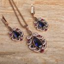 Turkish Style Resin Flower Shape Necklace Earrings
