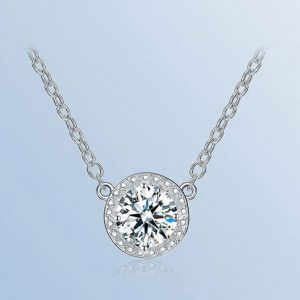 Top Round Cubic Zirconia Pendant Necklaces