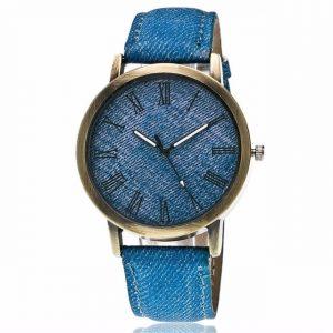 Wristwatch Jean Fabric Band Quartz Watch