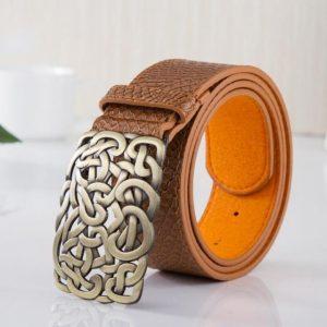 PU leather women belt