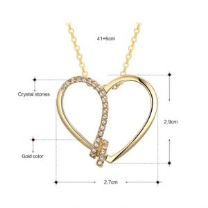 Heart Pendant Color Gold/Silver