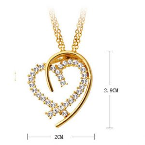 Love Heart Pendant Color Gold/Silver