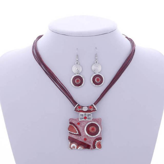 3173195fb African Jewelry Set Crystal Gem Pendant - ClicknOrder
