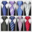 Striped Plaid Silk Polyester Ties